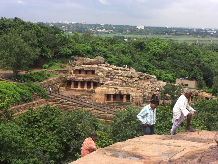 The Udayagiri Caves famous for their inscriptions.