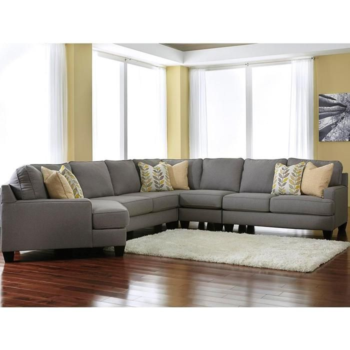 Chamberly 5 Piece Sectional With Left Arm Facing Cuddler In Alloy Nebraska Furniture Mart