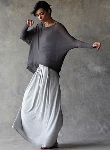 flowing shades of grey material which is very comfortable to wear anytime of the day...