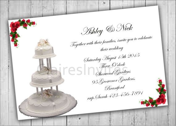 Printable Wedding Invitation Bridal Party by PartyPrintableInvite