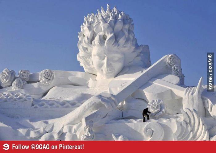 Unbelievable Snow Scupture