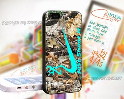 Just Shoot It Deer Camo - Print On Hard Case iPhone 4/4S Case