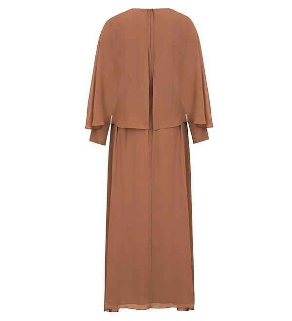 Soft Cinnamon Cape Maxi Dress - £59.90 : Inayah, Islamic Clothing & Fashion, Abayas, Jilbabs, Hijabs, Jalabiyas & Hijab Pins