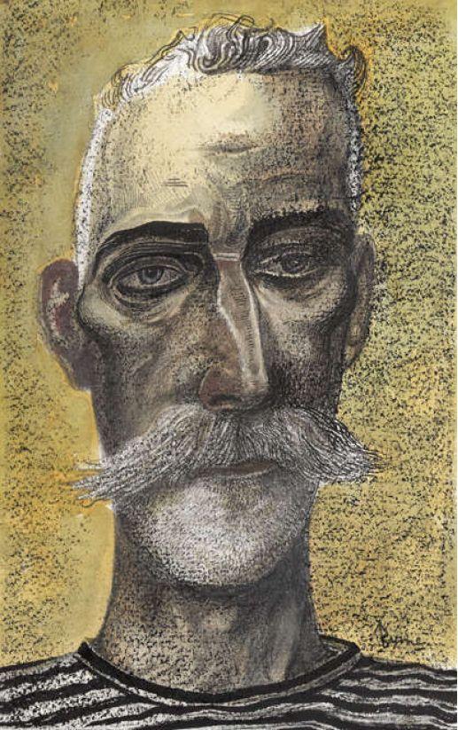 'Self Portrait Head' by John Byrne, 2012 (mixed media)