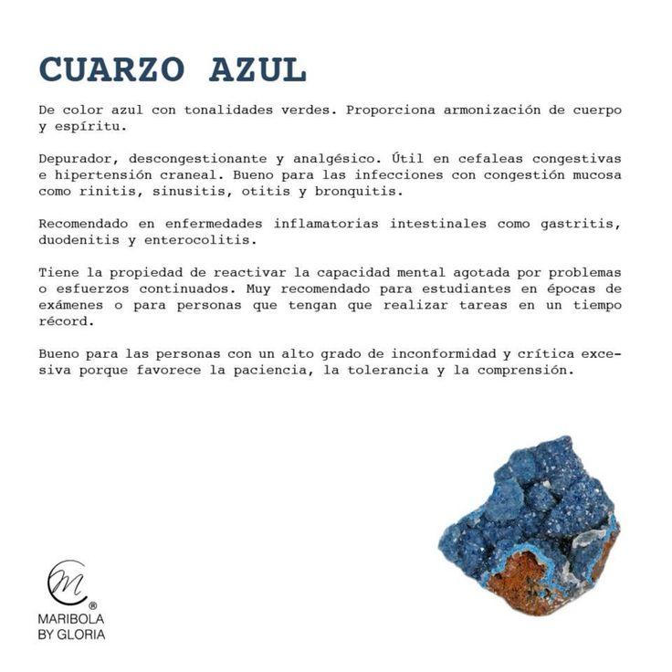 Aprendemos sobre el cuarzo azul.  Copyright: maribolabygloria.com