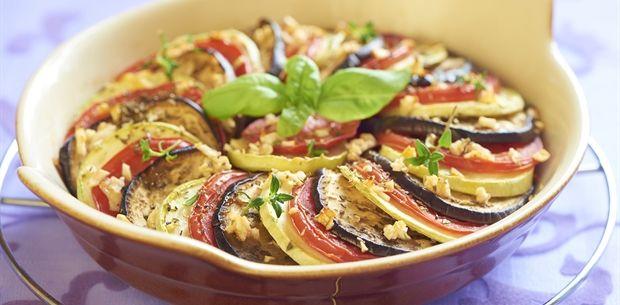 Zucchini, Eggplant, Tomato Gratin