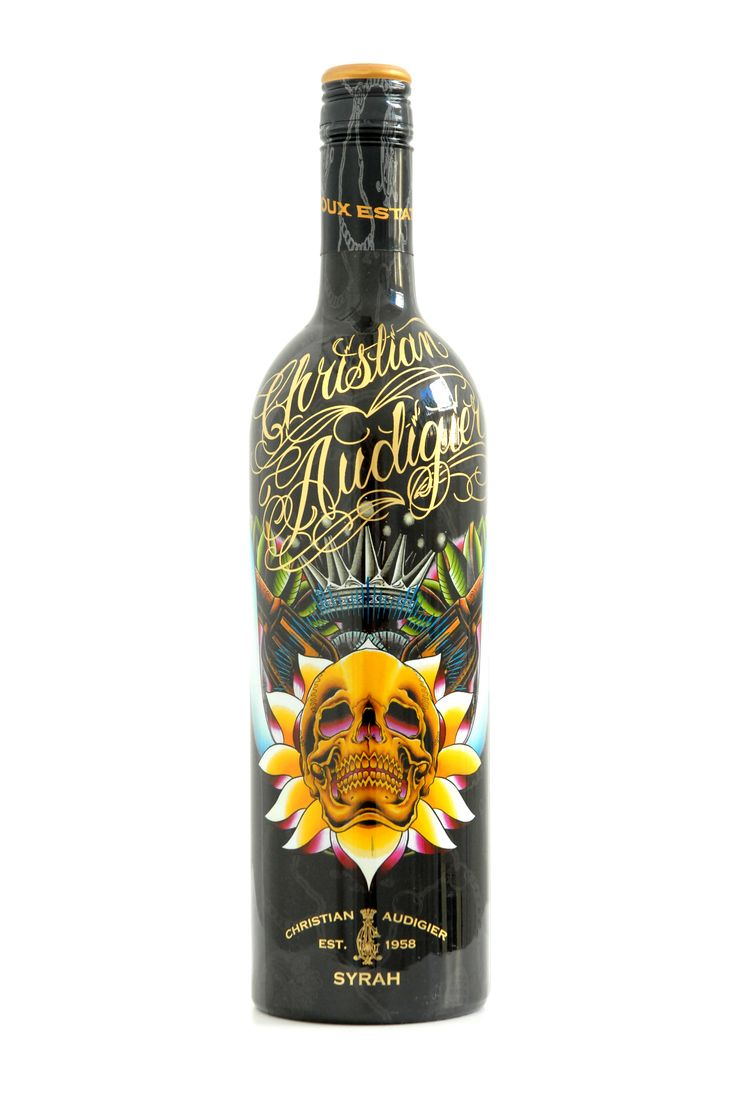 Bottle of Christian Audigier Syrah Wine.