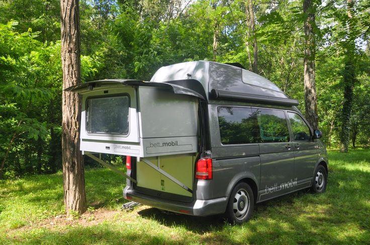 vw t5 campingbus bettmobil mit ausziehbarem bett vw t5. Black Bedroom Furniture Sets. Home Design Ideas