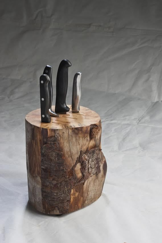duncan-meerding-knife-block - listen to the Recycled Interiors podcast as we chat with Duncan about how he makes his cracked log lamps, stump lights and more