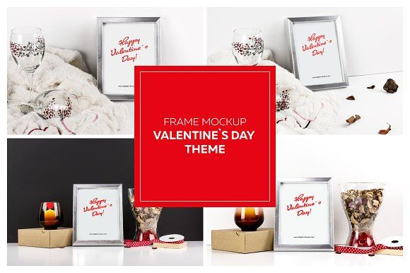 Frame Mockup - Valentine`s Day Theme by DIGITAL INFUSION on @creativemarket