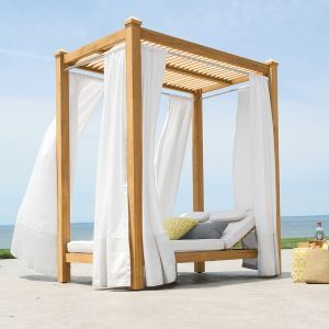 Vista double chaise cabana with slatted ceiling and ...