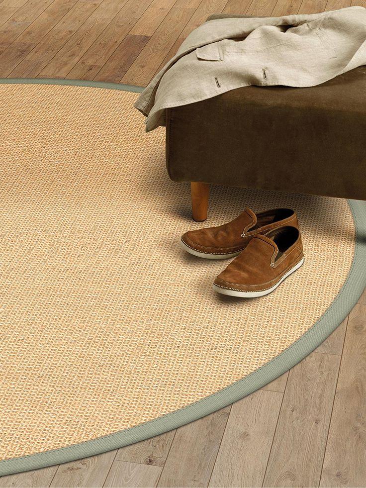 benuta tapis de salon moderne sisal pas cher vert 200 cm rond sans pollution