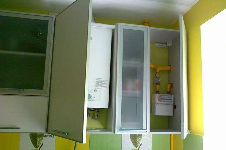 Коммуникации на кухне всегда спрятанные в шкафчики