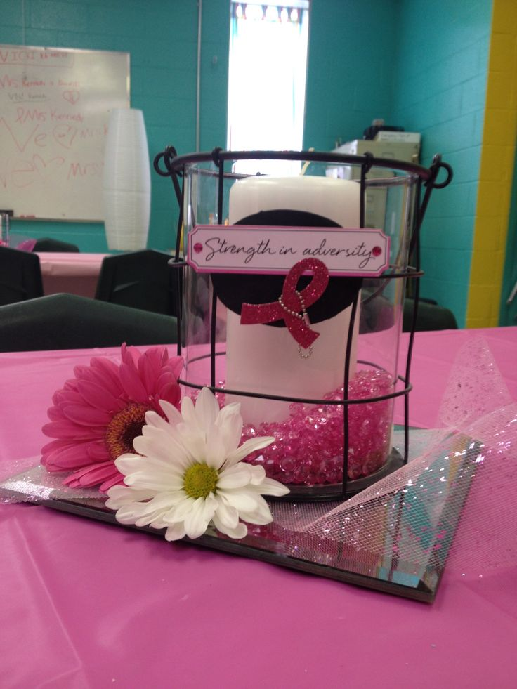 T Cancer Survivor Table Decoration