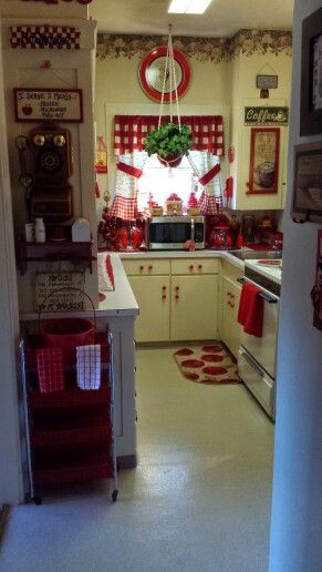 redecorating my little kitchen love red red white