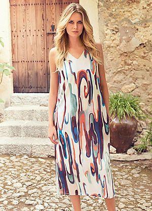 Print Sleeveless Midi Dress #kaleidoscope #summer #fashion