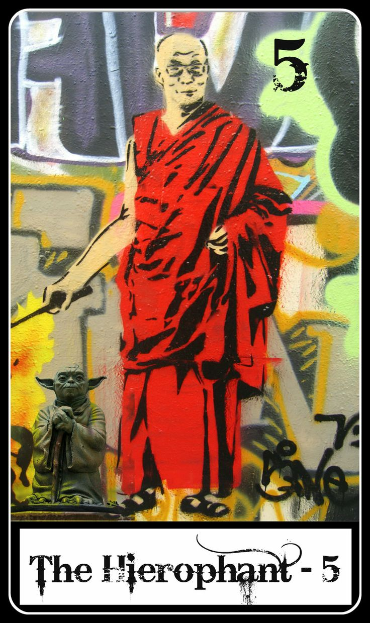 hierophant. Not a deck. Link is to orig pic of street art (which does not include Yoda). Interesting idea though.