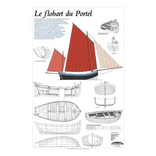 Flobart du Portel, plan de modélisme | Bateau traditionnel du boulonnais | A retrouver sur : http://www.chasse-maree.com/modelisme/4798-plan-de-modelisme-flobart-du-portel.html