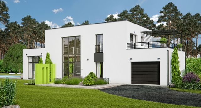 Igc construction gamme maisons modernes mod le elbe for Maison contemporaine 140m2