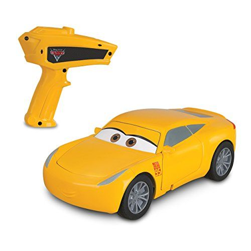 Cars Crazy Crash & Smash Cruz Ramirez RC car  Car parts pop out when the car crashes. How crazy is that?  Snap the parts back in place and this car is ready for more crazy crashing and smashing action!  Goes forward with turn in reverse action