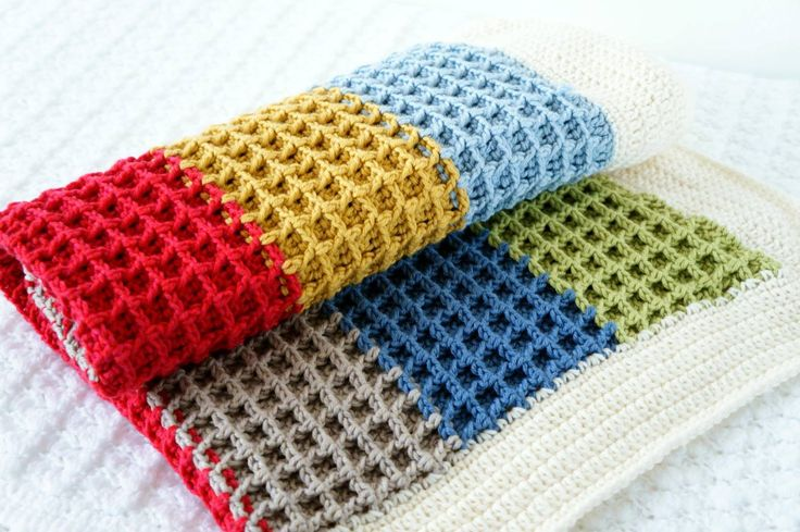 Waffle Stitch Crochet Blanket Pattern