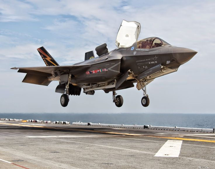 F-35B+Lightning+II = has vertical take off and landing capability ie harrier jump jet like but obviously the next generation technology incorporated ✅