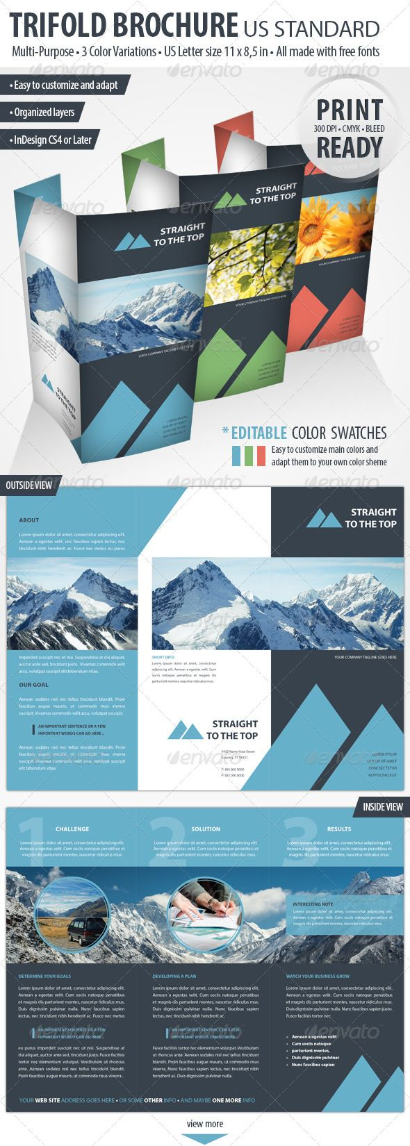 Best Travel Agency Brochure Designs Images On