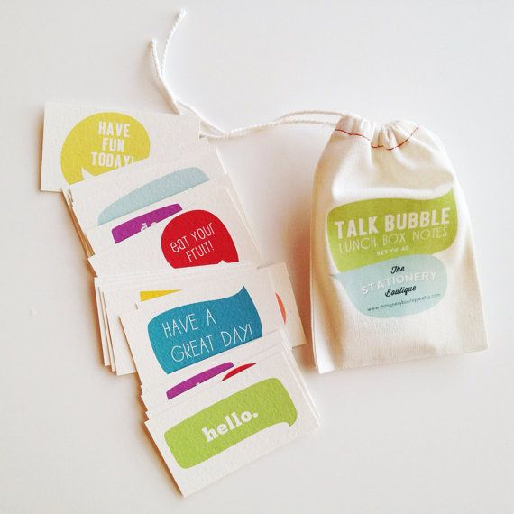 Stationery Boutique talk bubble lunchbox notes