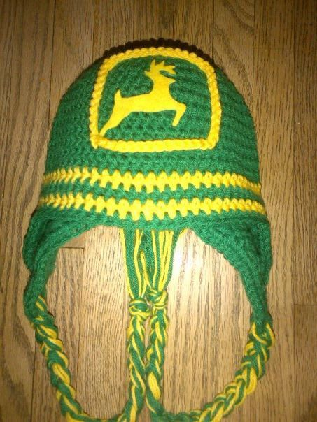John Deere Hat Crocheted in Sizes Newborn to Adult by juliannealm ... be6e06d2f9a