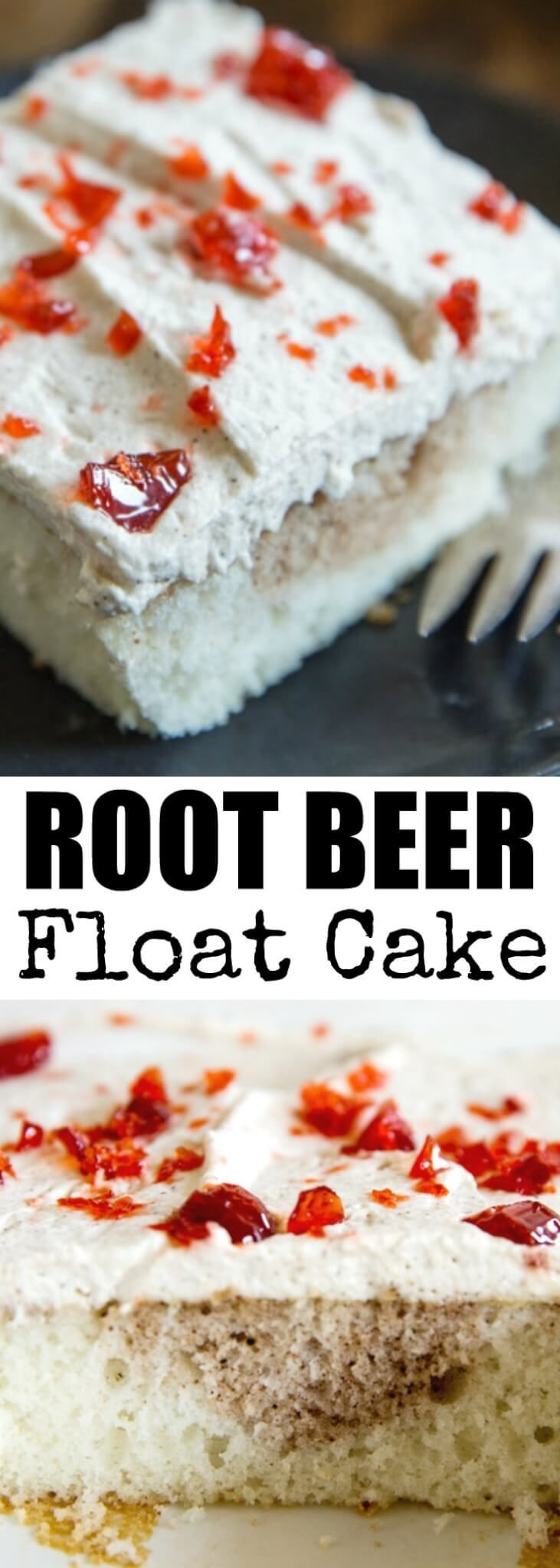 Sweet and spicy Root Beer Float Cake has all the f…