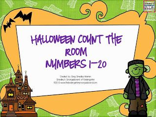 FREEBIE!!  Halloween themed count the room!  Differentiated with 3 levels to meet the needs of all students!