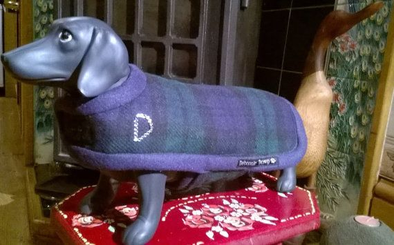 Dog Coat in a Blackwatch Tartan waterproof and by stitchmilitz