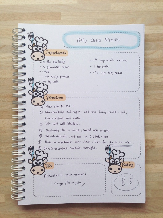 Recipe Book Baby Edition