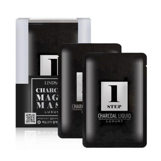 Luxury Magic Mask - Charcoal (5 Packs + Mixing Bowl)