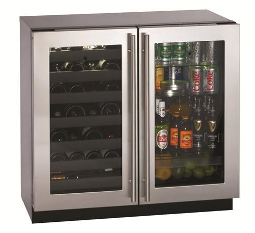 Wine Decor Kitchen Accessories Aprons Contemporary Refrigerator From U-line, Model ...