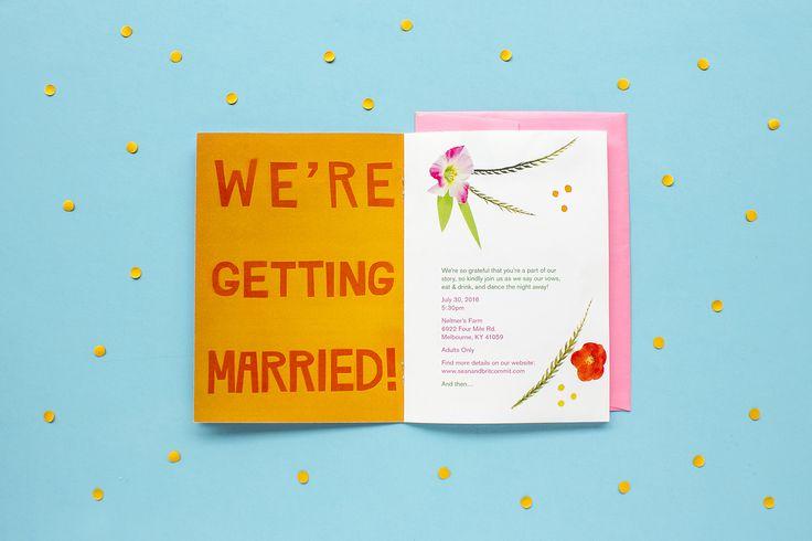 Tropical Themed Wedding Invitation Booklet Zine