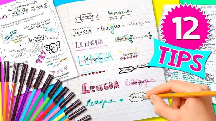APUNTES y TITULOS bonitos* 12 ideas REGRESO a CLASES