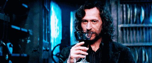 When he took a sip of wine and you never wanted to be a wine glass more than in that moment.   18 Small Moments That Made You Fall In Love With Sirius Black