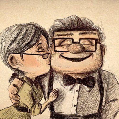 Ellie and Carl #art #disney #up