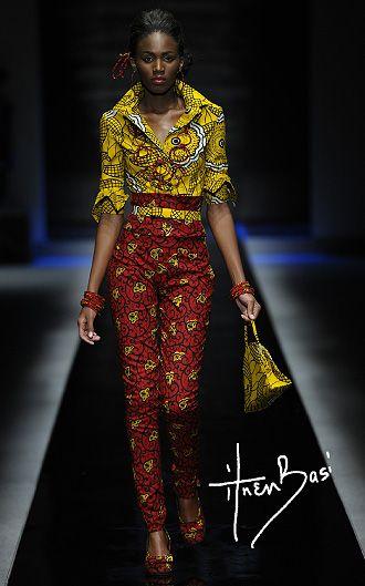 ituen basi, she's a nigerian fashion designer....love her work.