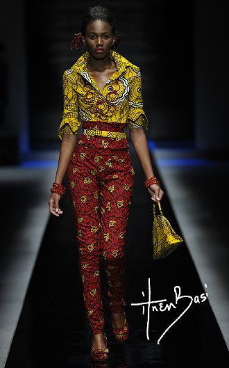 ituen basi, she's a nigerian fashion designer....this is a bit too much print to wear all at once for me but I love the individual pieces