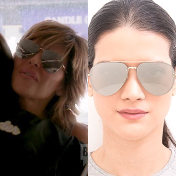 mirrored aviator sunglasses l7py  Lisa Rinna's Silver Mirrored Aviator Sunglasses with Gold Hardware Season 7  Real Housewives of Beverly Hills