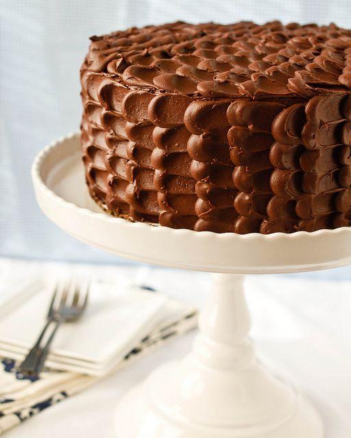 chocOlate cake with petal icing