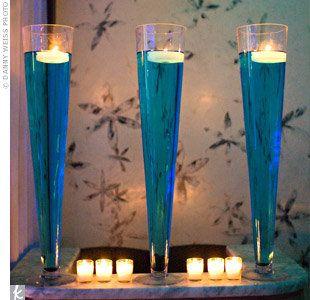 Wedding, Reception, Ceremony, Blue - centerpiece for bar, ceremony