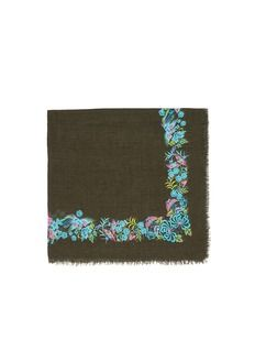 FRANCO FERRARIBird and flower print modal-silk blend scarf
