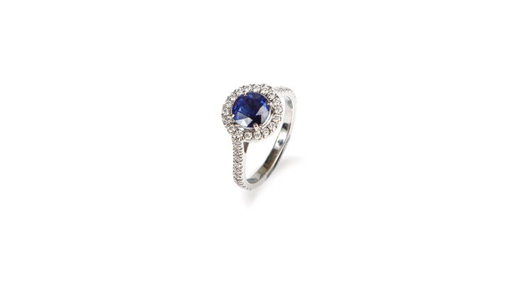 Sapphire Engagement Ring by Victoria Tryon - Luxury Jewellery and Bespoke Diamond Engagement Rings, London.
