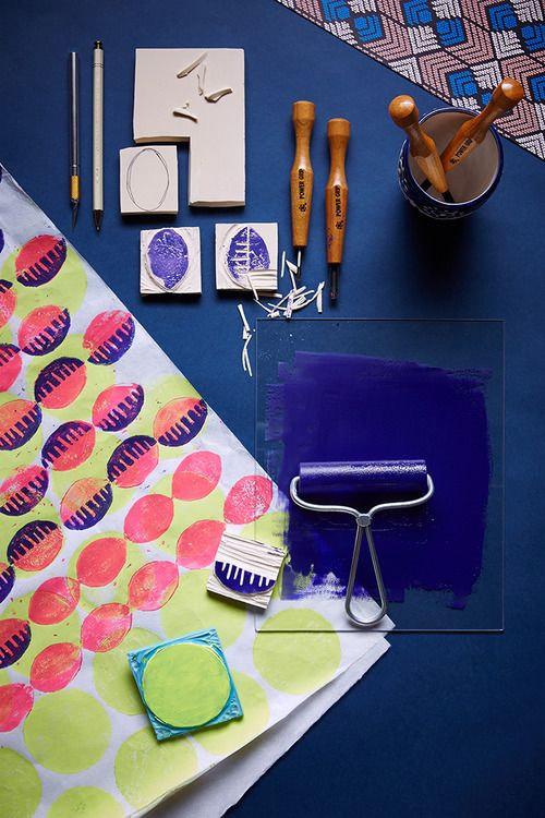 For the print-mix enthusiast, a cheery and colorful Dutch wax #DIY, now on the #AnthroBlog.