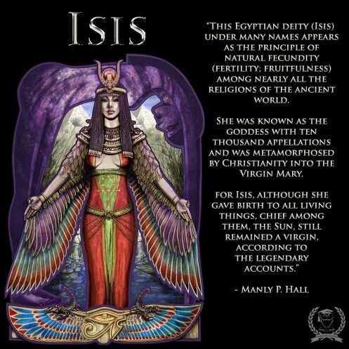 "The Isis of myth... We also know that ""Virgin"" means a woman who does not bow to a man, who is not dependent on a man. Isis never was."