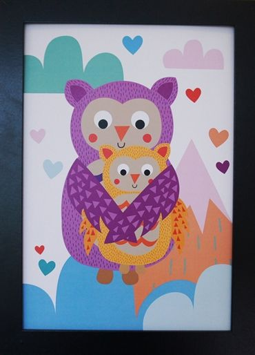 Print Owls in the Clouds. Design Sara Vestberg