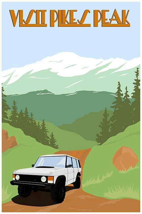 Pikes Peak Range Rover Classic.  #pikespeak , #colorado , #rangerover , #rover , #offroad , #4x4 , #rockies , #mountains , #nature , #outdoors , #classic , #car , #truck